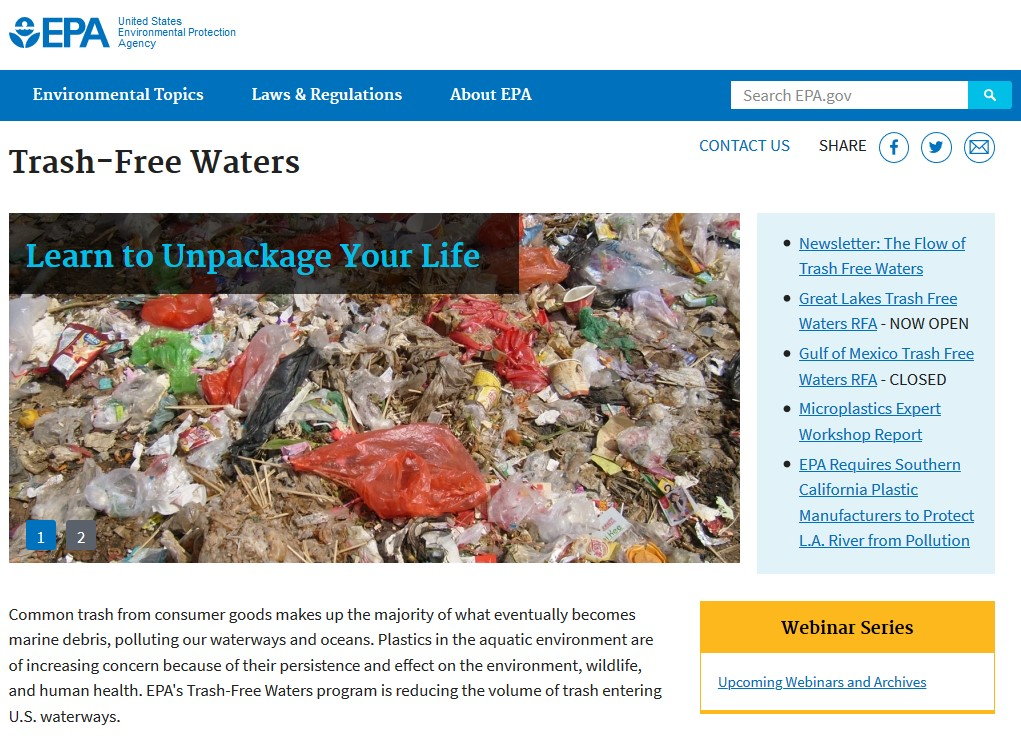 plastic in ocean US EPA