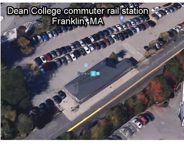 Dean College commuter rail station Franklin MA