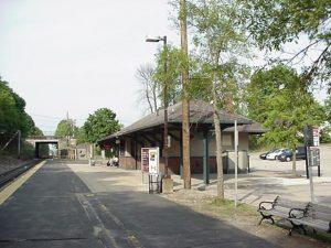 Dean College commuter rail station Franklin MA