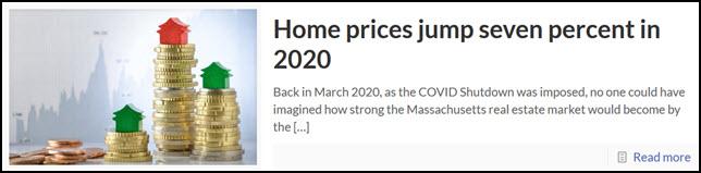 Massachusetts real estate home sales