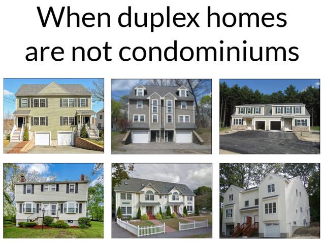 duplex condo difference