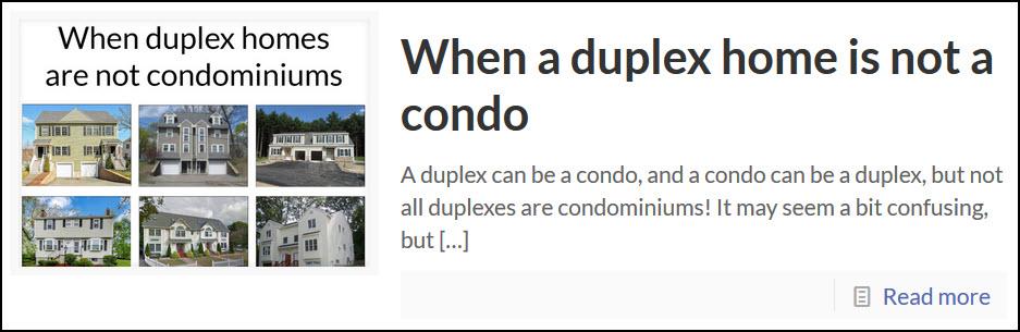condo association duplex warren reynolds massachusetts